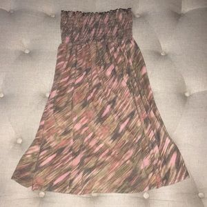 Lucky Brand strapless Terri-cloth cover up